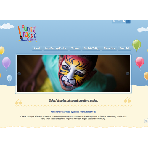 Face Painting Website