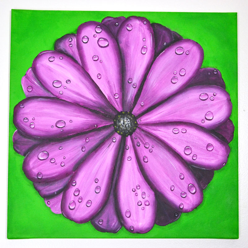 Rainy Day Daisy – Acrylic Painting